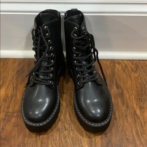 H&M Chunky Combat Boots Black Size 6 Women's